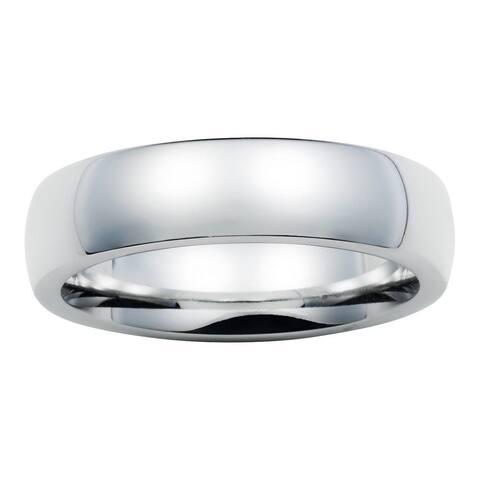 Boston Bay Diamonds Men's 6MM Comfort Fit Cobalt Chrome Wedding Band Ring