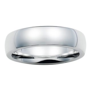 Boston Bay Diamonds Men's 6MM Comfort Fit Cobalt Chrome Wedding Band Ring (More options available)