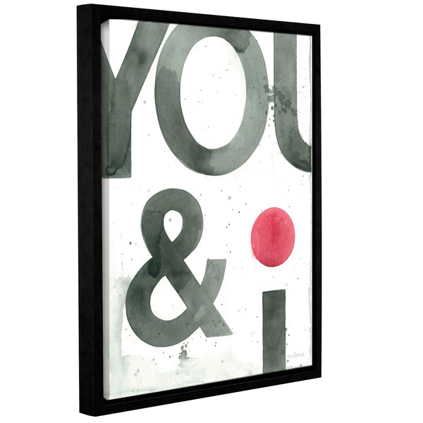 ArtWall Norman Wyatt JR's 'You And I' Gallery Wrapped Floater-framed Canvas
