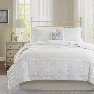 Madison Park Isabella White Coverlet Set