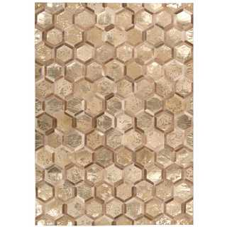 Michael Amini City Chic Amber/Gold Area Rug by Nourison (5'3 x 7'5)
