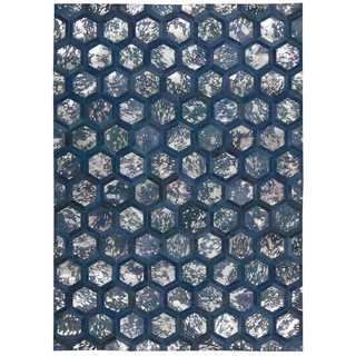 Michael Amini City Chic Cobalt Area Rug by Nourison (5'3 x 7'5)