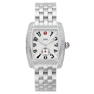 Michele Women's MWW02M000002 'Urban' Diamond Stainless Steel Watch