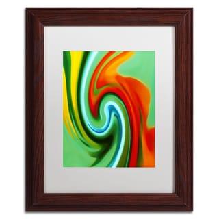 Amy Vangsgard 'Abstract Flower Unfurling Vertical 2' Matted Framed Art