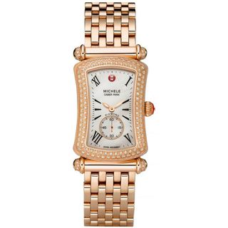 Michele Women's MWW16B000037 'Caber Park' Diamond Rose-Tone Stainless Steel Watch