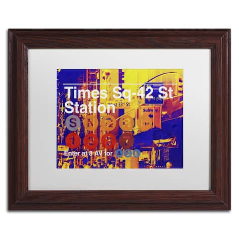 Philippe Hugonnard 'Subway City Art NYC' Matted Framed Art