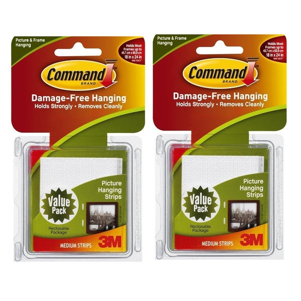 Shop 3m Command White Medium Picture Hanging Strips 24 Setspack
