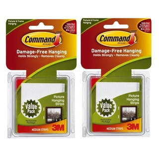 3M Command White Medium Picture Hanging Strips 24 Sets/Pack