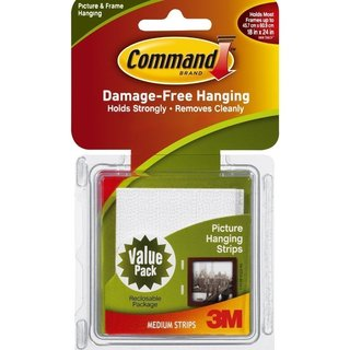 3M Command Medium White Picture Hanging Strips