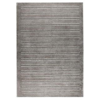 Hand-Knotted Indo Chicago Grey Rug (5'6 x 7'10)