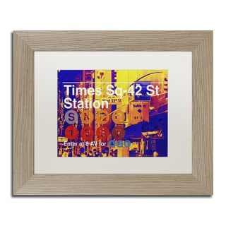 Philippe Hugonnard 'Subway City Art NYC' Matted Framed Art