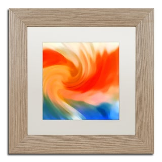 Amy Vangsgard 'Storm At Sea Square 2' Matted Framed Art