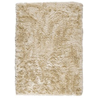 Hand-woven Indo Dubai Vanilla Rug (5'6 x 7'10)
