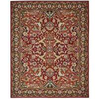 Nourison Timeless Red Rug - 5'6 x 8'