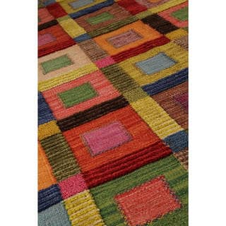 M.A.Trading Hand-Woven Indo Big Box Multi Rug (5'6 x 7'10)