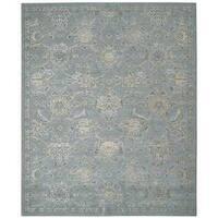 Nourison Silk Infusion Blue Rug (5'3 x 7'5)