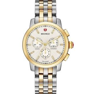 Michele Women's MWW25A000002 'Uptown' Chronograph Diamond Two-Tone Stainless Steel Watch