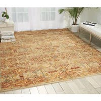 Nourison Rhapsody Light Gold Rug - 5'6 x 8'