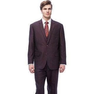 Caravelli Men's Burgundy Vested Suit
