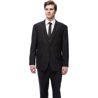 Caravelli Men's Black Vested Suit