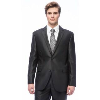 Caravelli Men's Slim Fit Black Notch Collar 2-button Suit