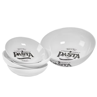 Best In Town 5-piece Porcelain Round Pasta Set