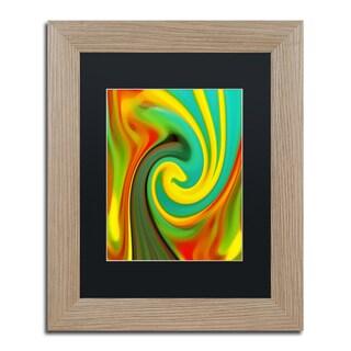 Amy Vangsgard 'Abstract Flower Unfurling Vertical 1' Matted Framed Art