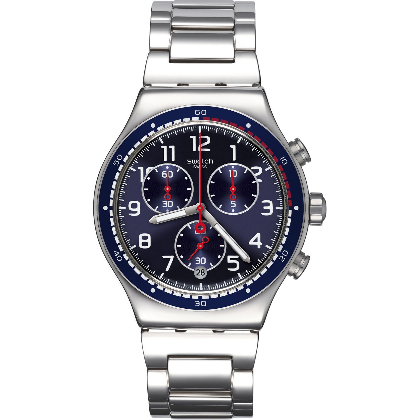 Swatch Men's YVS426G 'Irony SwatchHour' Chronograph Stain...