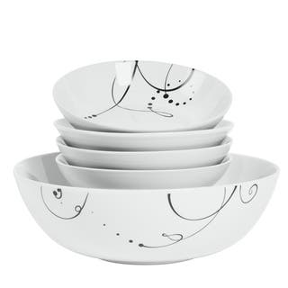 Pescara 5-piece Porcelain Round Pasta Set|https://ak1.ostkcdn.com/images/products/11583901/P18524671.jpg?impolicy=medium