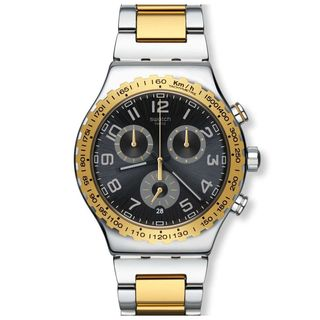 Swatch Men's YVS427G 'Irony Golden Youth' Chronograph Two-Tone Stainless Steel Watch