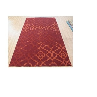 M.A.Trading Hand-Tufted ChineseHeritage Red Rug (5'x8')