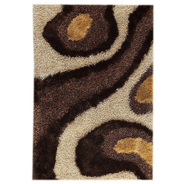 Handmade M.A.Trading Indo Dunes White/ Brown Rug (7'10 x 9'10) (India)