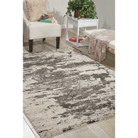 Nourison Maxell Ivory/Grey Rug (5'3 x 7'3)