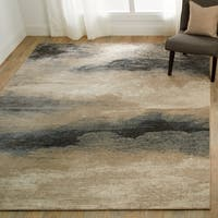 Nourison Maxell Ombre Charcoal/Beige Rug - 5'3 x 7'3
