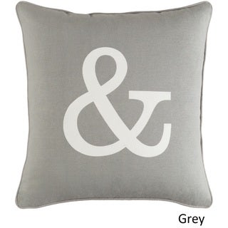 Decorative 18-inch Chee Throw Pillow Shell (Grey)