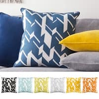 Decorative 18-inch Appia Down or Polyester Filled Throw Pillow