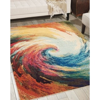 Nourison Celestial Colorful Wave Area Rug