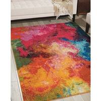 Nourison Celestial CES04 Abstract Colorful Area Rug