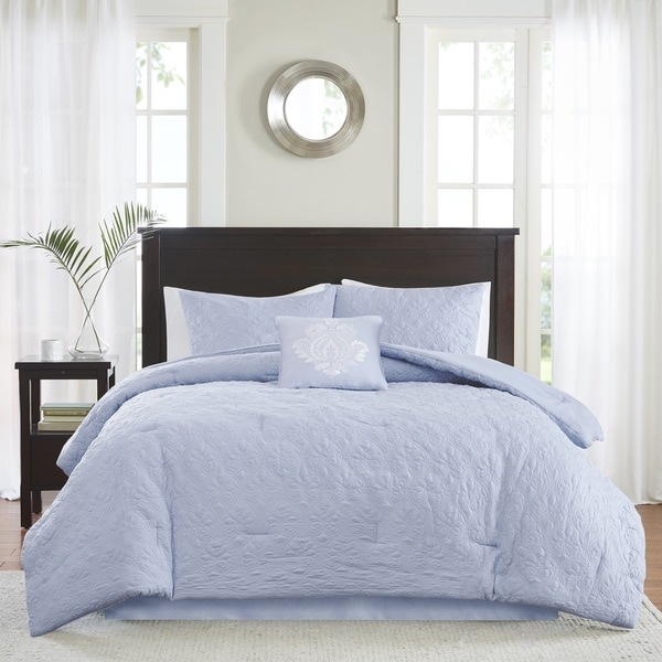 Madison Park Mansfield Blue Comforter Set