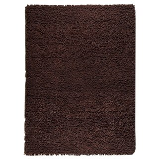 Hand-woven Indo Berber Brown Rug (5'6 x 7'10)
