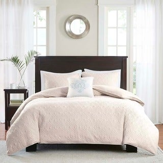 Madison Park Mansfield Ivory 2-in-1 Duvet Cover/Coverlet Set