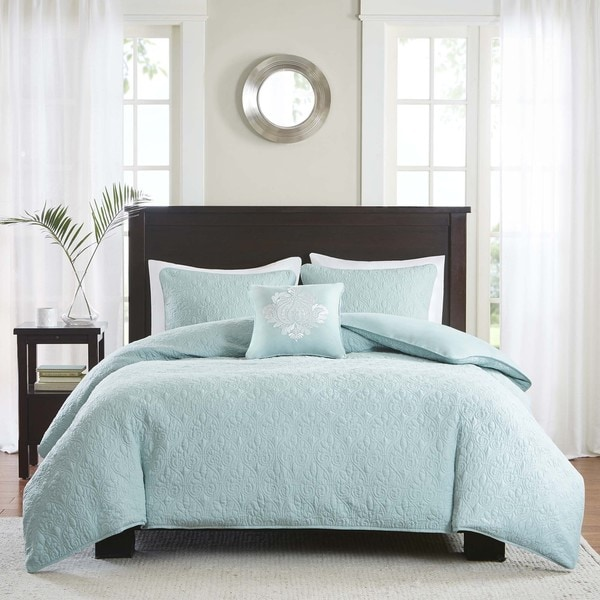 Madison Park Mansfield 2 In 1 Seafoam Duvet Cover Coverlet