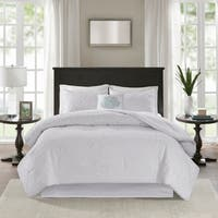 Madison Park Mansfield Quilted White Comforter Set