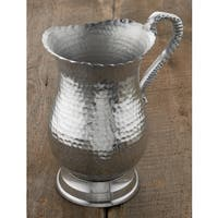 9-inch Hammered Aluminum Water Pitcher