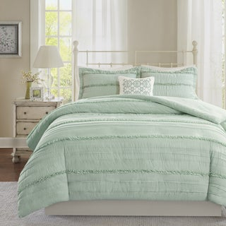 Madison Park Isabella 2-in-1 Green Duvet Cover/Coverlet Set