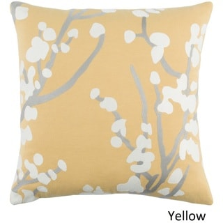 Decorative 18-inch Blach Down or Polyester Filled Throw Pillow