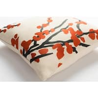 Decorative 18-inch Blach Feather Down or Polyester Filled Throw Pillow