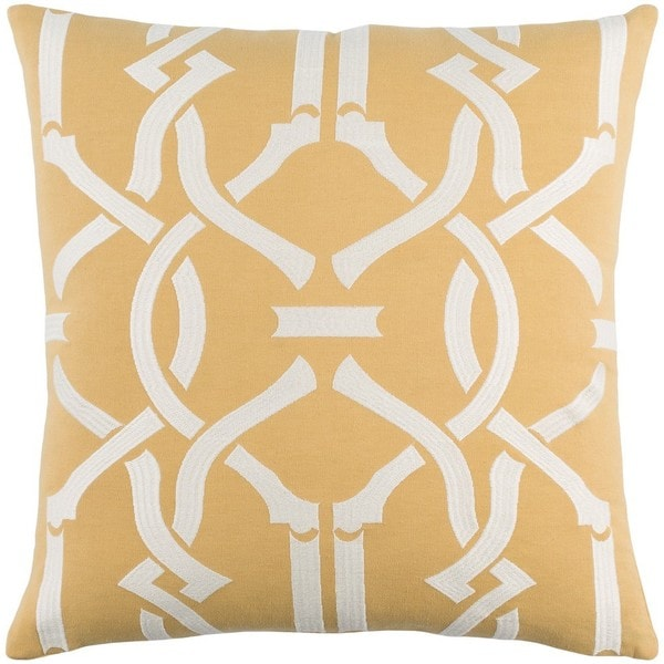 Decorative 18-inch Basin Down or Polyester Filled  Throw Pillow