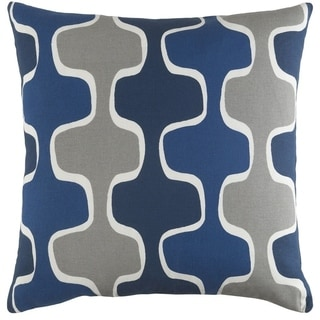 Decorative 18-inch Canal Down or Polyester Filled Throw Pillow