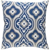 Decorative 18-inch Dalal Down or Polyester Filled Throw Pillow